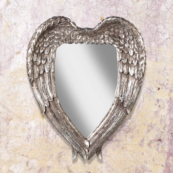 Silver Angel Wings Mirror
