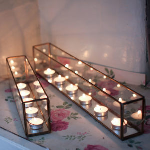 Bequai Glass Tea Light Box