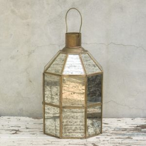 Rustic Mirrored Lantern