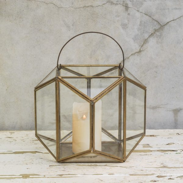malusi brass lantern and terrarium