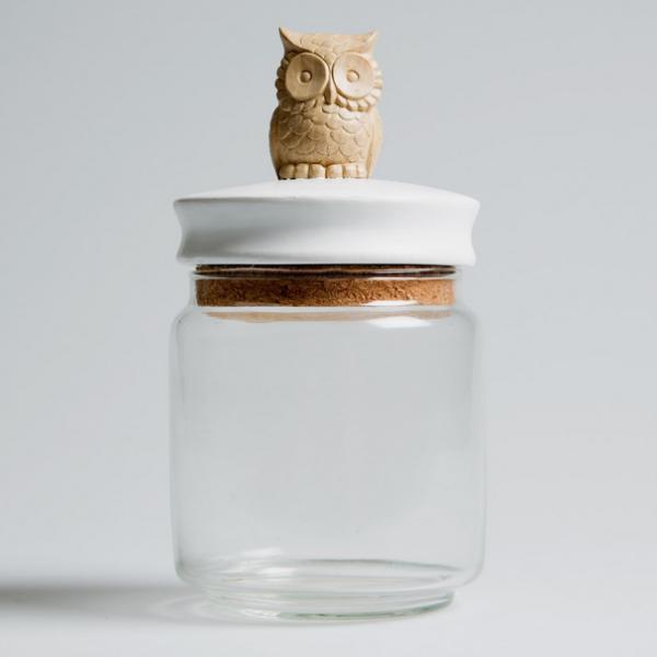 Owl Trinket Jar