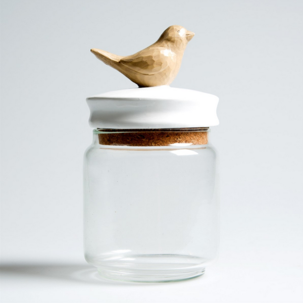 Bird Trinket Jar