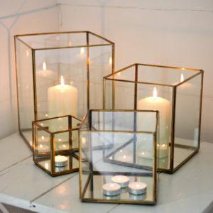 Bimala Brass and Glass Lantern