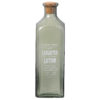 Green Glass Laughter Lotion Bottle