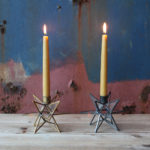 Moba Brass or Zinc Star Candlestick