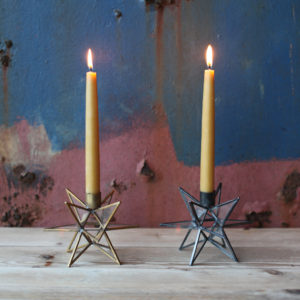 Moba Brass or Zinc Star Candlestick