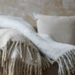 Taupe Mohair Throw