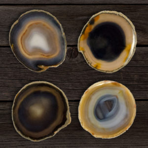 Natural Agate Coasters
