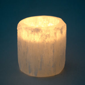 Mini Selenite Crystal Tea Light Holder