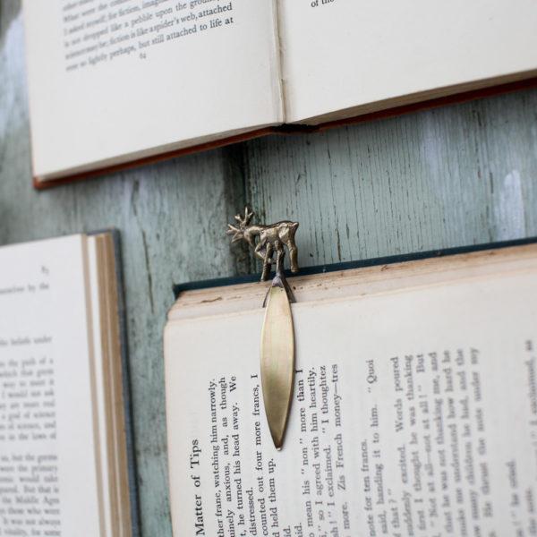 Brass Stag Bookmark