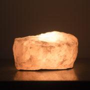 rose quartz crystal candle holder