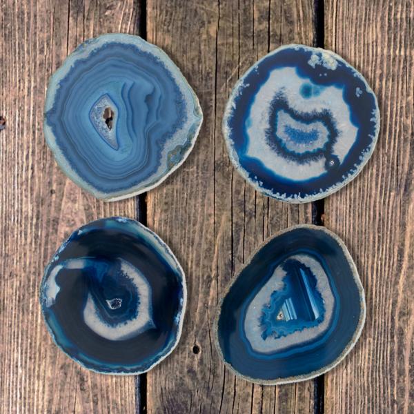 Blue Agate Coasters