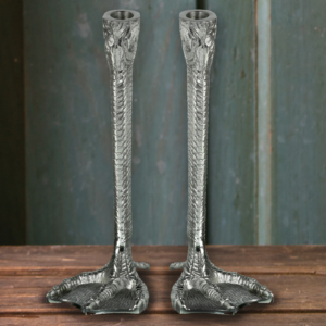 Silver Duck Feet Candlesticks