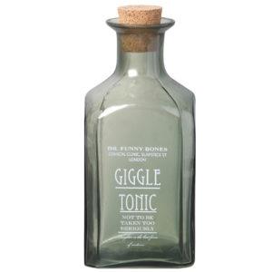 Green Glass Giggle Tonic Bottle