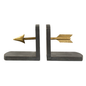 Gold Arrow Bookends