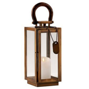 Colonial Brass Lantern Small