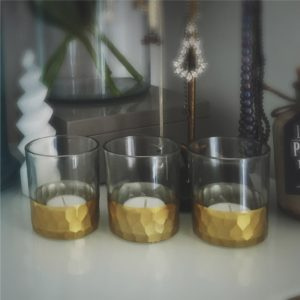 Gold Gilded Tea Light Holder