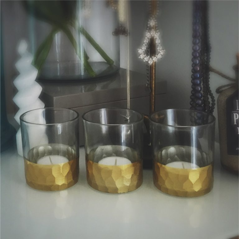 Gold Gilded Tea Light Holder