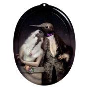 Lovebirds quirky wall art piece
