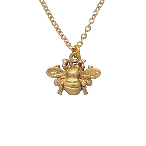 mirabelle gold bee necklace