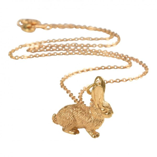mirabelle gold rabbit pendant
