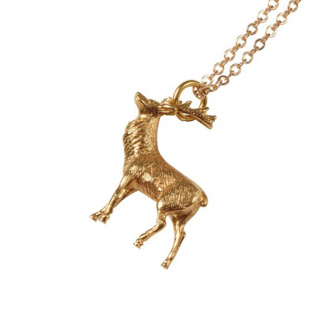 Mirabelle gold Stag necklace