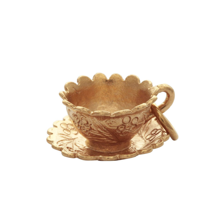 mirabelle gold cup and saucer pendant