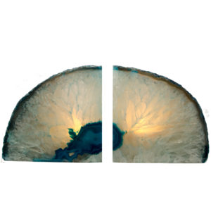 Agate Bookends & Candle Holders