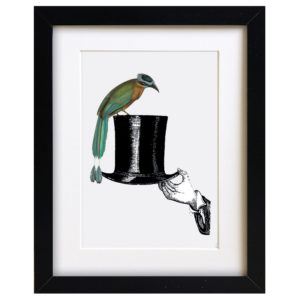 Quirky Bird Art Print