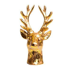 Gilded Stag Head Decoration & Ring Holder