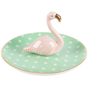 Tropical Flamingo Jewellery Dish