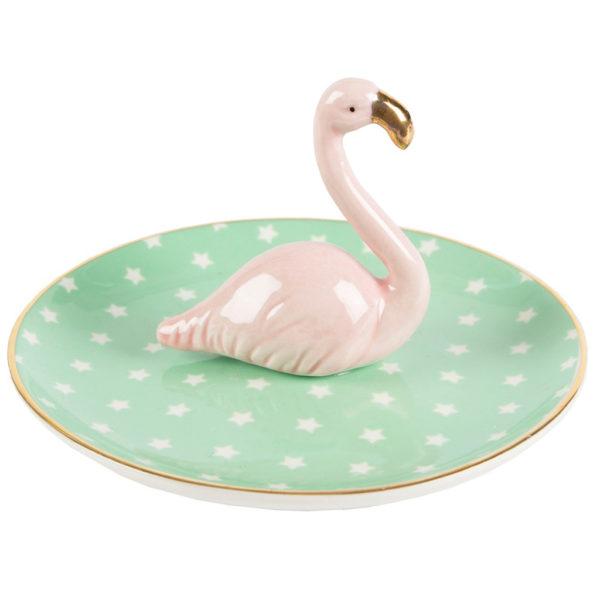 Tropical Flamingo Jewellery Dish